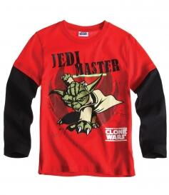 Star Wars langærmet t-shirt i sort/rød
