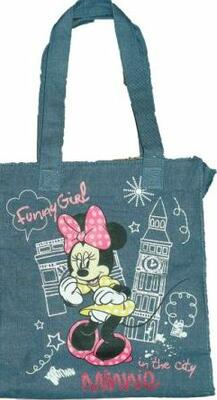 Minnie Mouse skuldertaske i denim