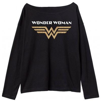 Wonder Woman T-Shirt Sort til Piger