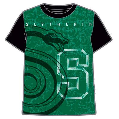 Harry Potter Kort T-Shirt Slytherin Grøn
