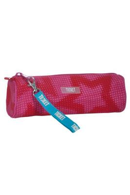 Pencil case Pink with pink stars - Ticket To Heaven
