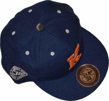 Cap navy med orange applikation - KIPS-UP